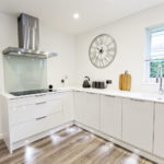 Built to a high high standard custom kitchen in white gloss in Scotland